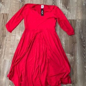Bright Red Curie NWT Agnes and Dora